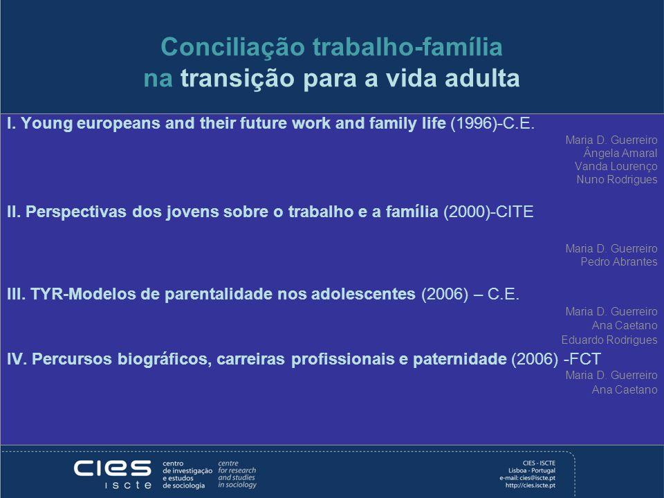 Conciliação trabalho-família na transição para a vida adulta