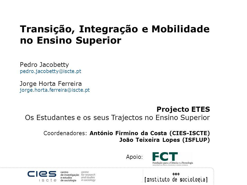 Transição, Integração e Mobilidade no Ensino Superior. Pedro Jacobetty