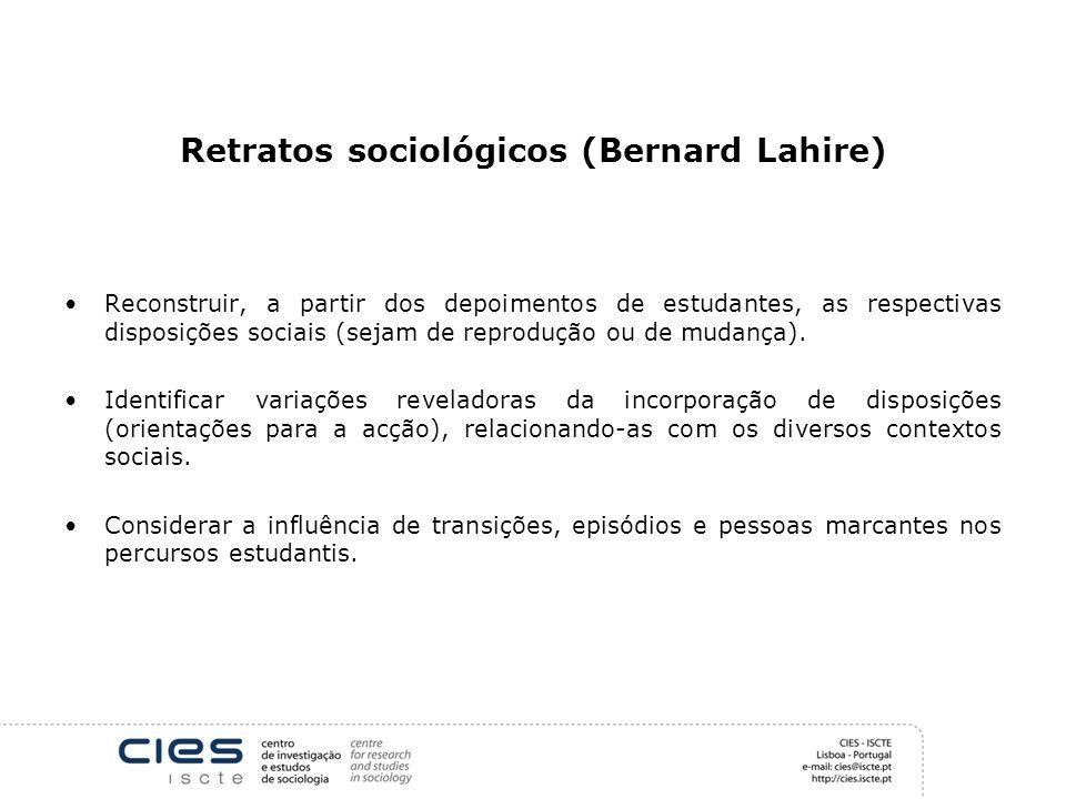 Retratos sociológicos (Bernard Lahire)