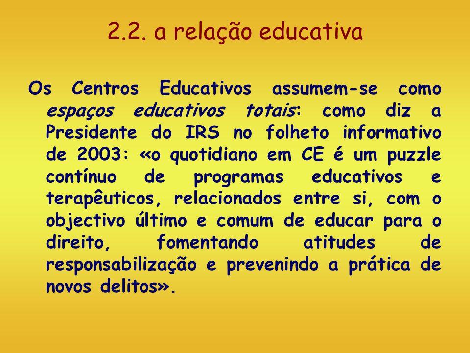 2.2. a relação educativa