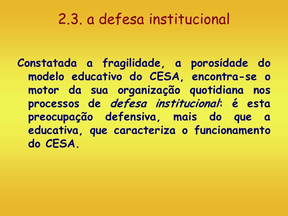 2.3. a defesa institucional