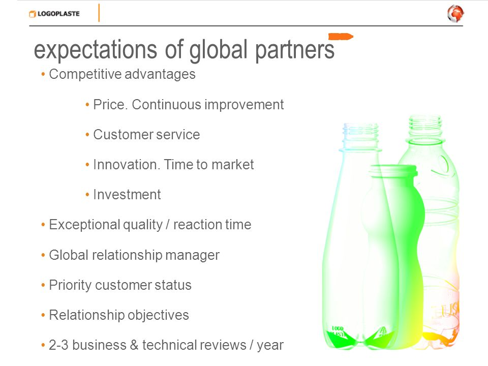 expectations of global partners