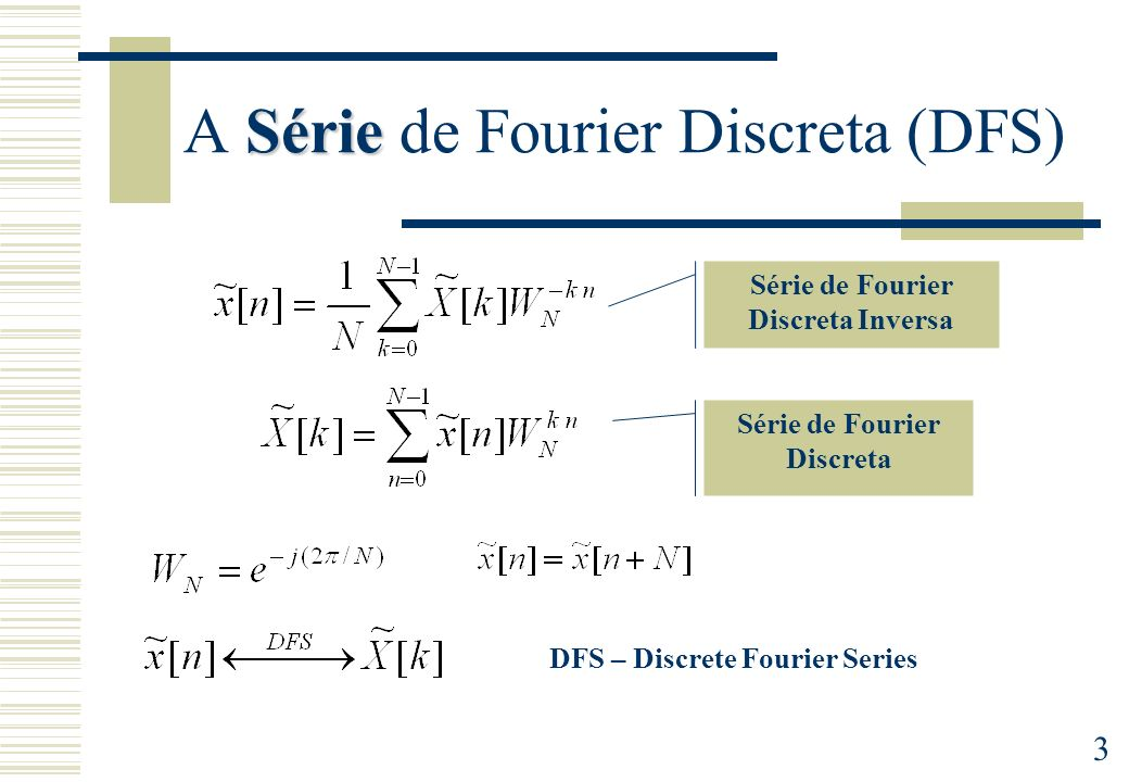 A Série de Fourier Discreta (DFS)