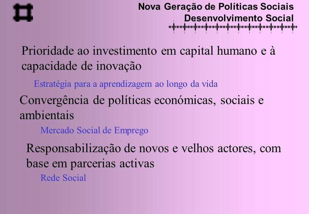 Prioridade ao investimento em capital humano e à