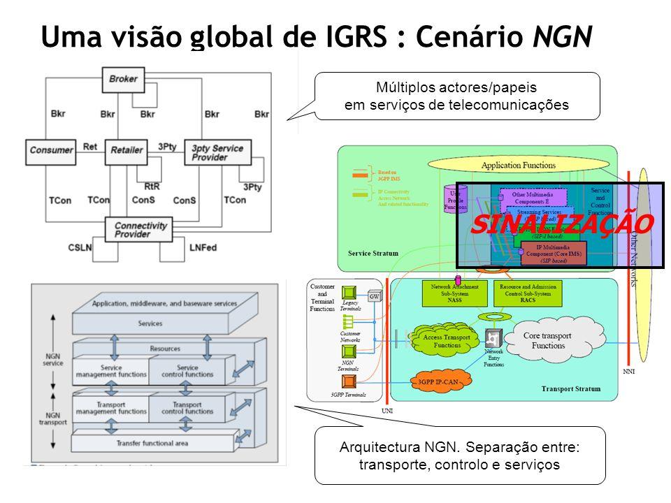 Uma visão global de IGRS : Cenário NGN