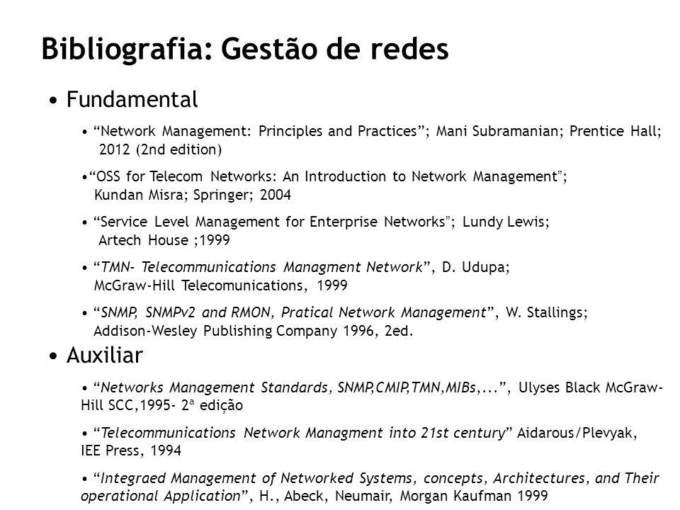 Bibliografia: Gestão de redes