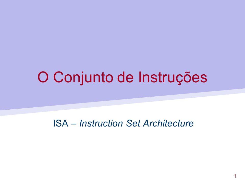 O Conjunto de Instruções