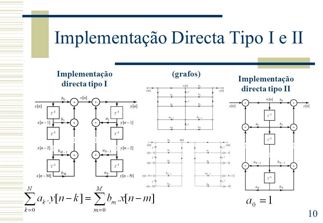 Implementação Directa Tipo I e II