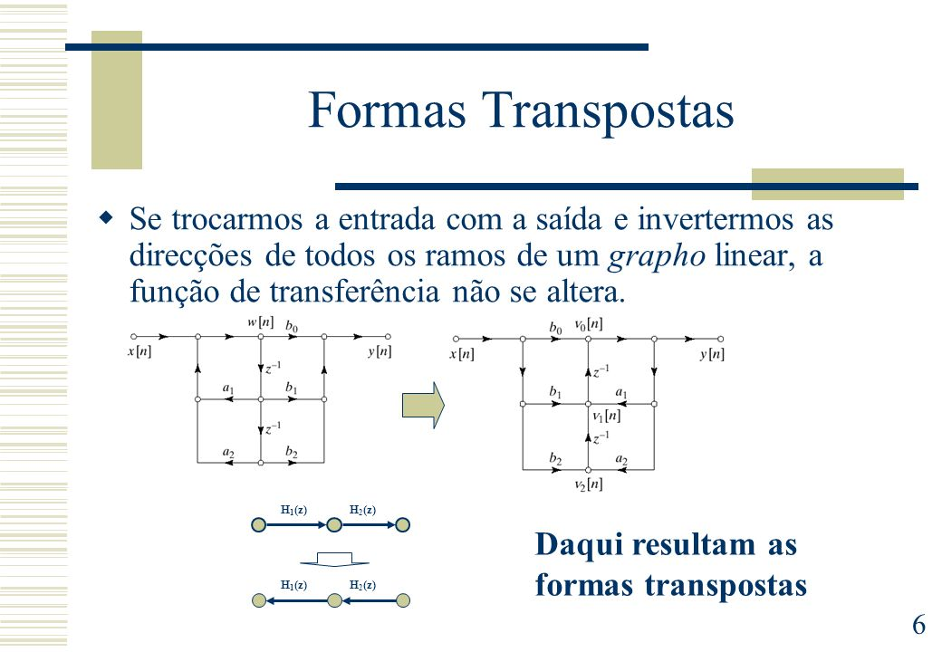 Formas Transpostas