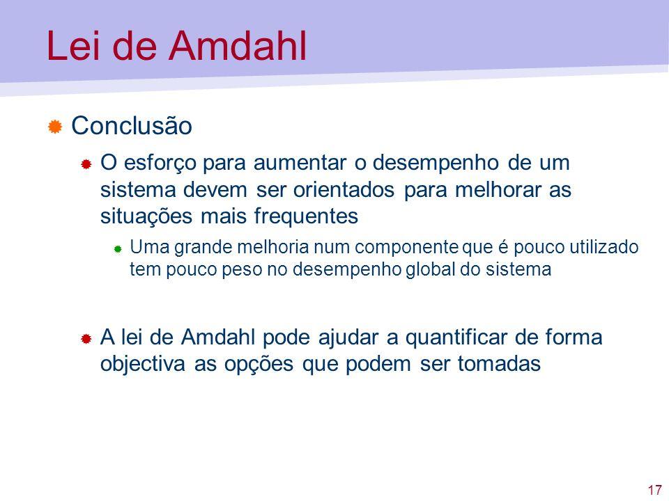 Lei de Amdahl Conclusão