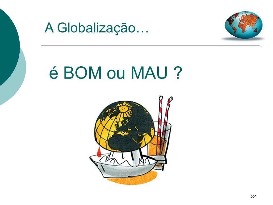 é BOM ou MAU A Globalização…