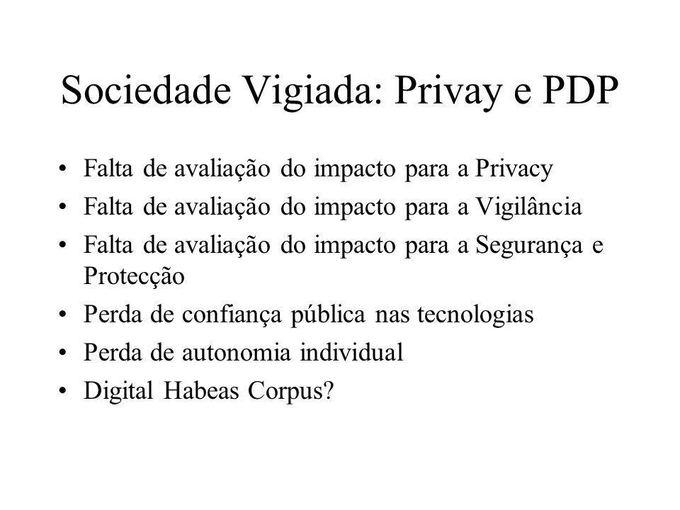 Sociedade Vigiada: Privay e PDP