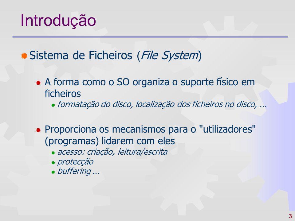 Introdução Sistema de Ficheiros (File System)