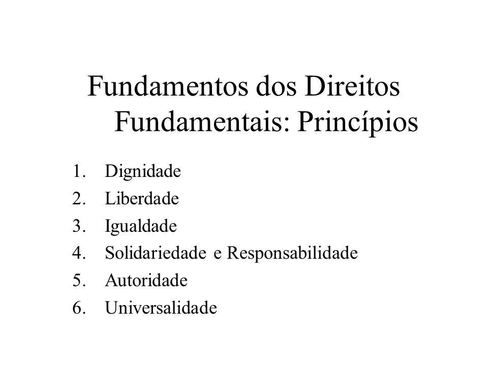 Fundamentos dos Direitos Fundamentais: Princípios