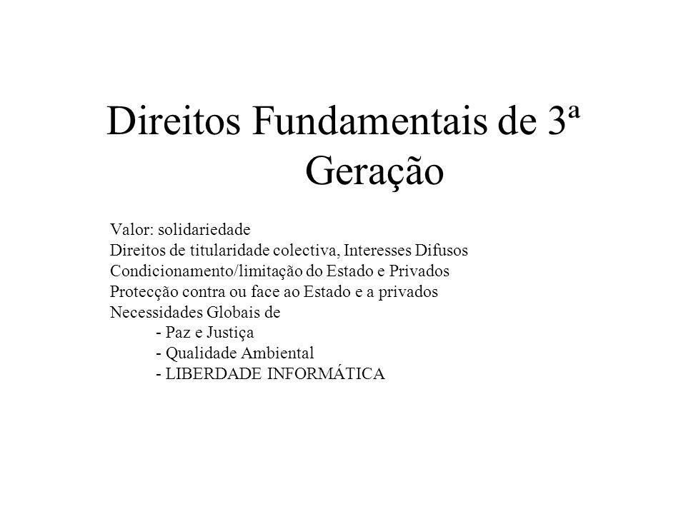 Direitos Fundamentais de 3ª Geração
