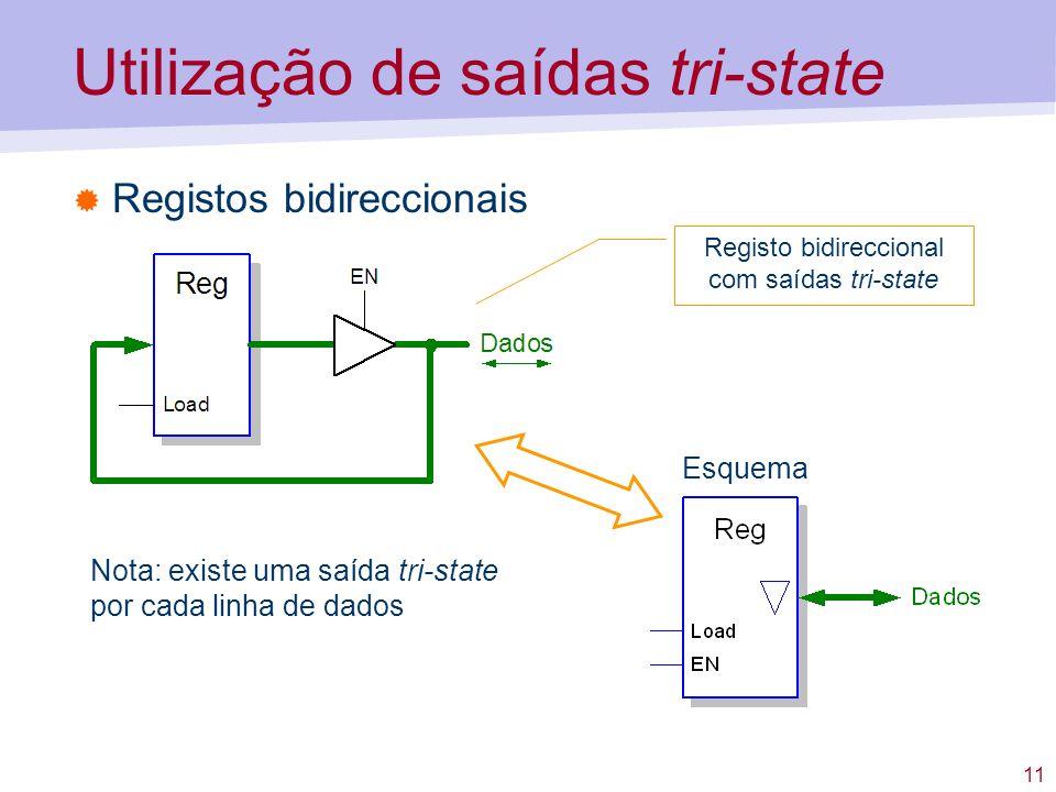 Utilização de saídas tri-state