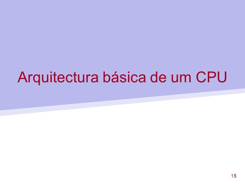 Arquitectura básica de um CPU