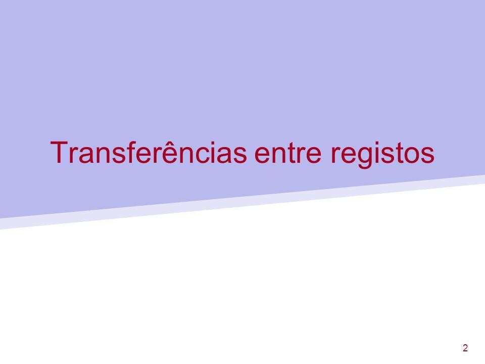 Transferências entre registos