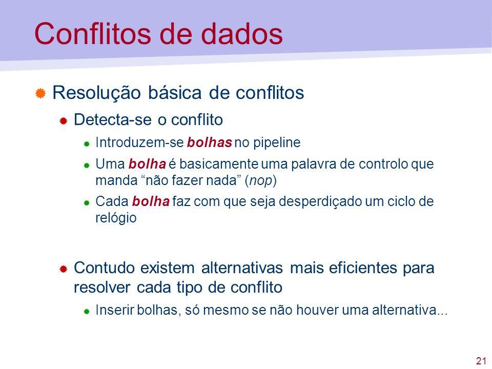 Conflitos de dados Resolução básica de conflitos Detecta-se o conflito