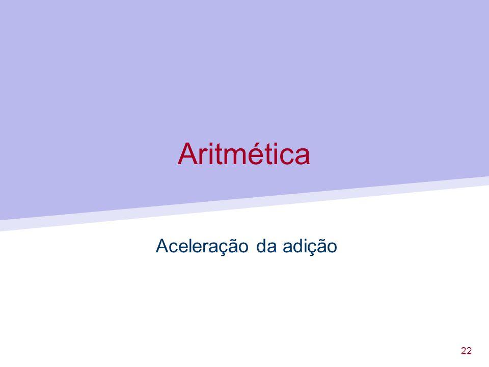 Aritmética Aceleração da adição