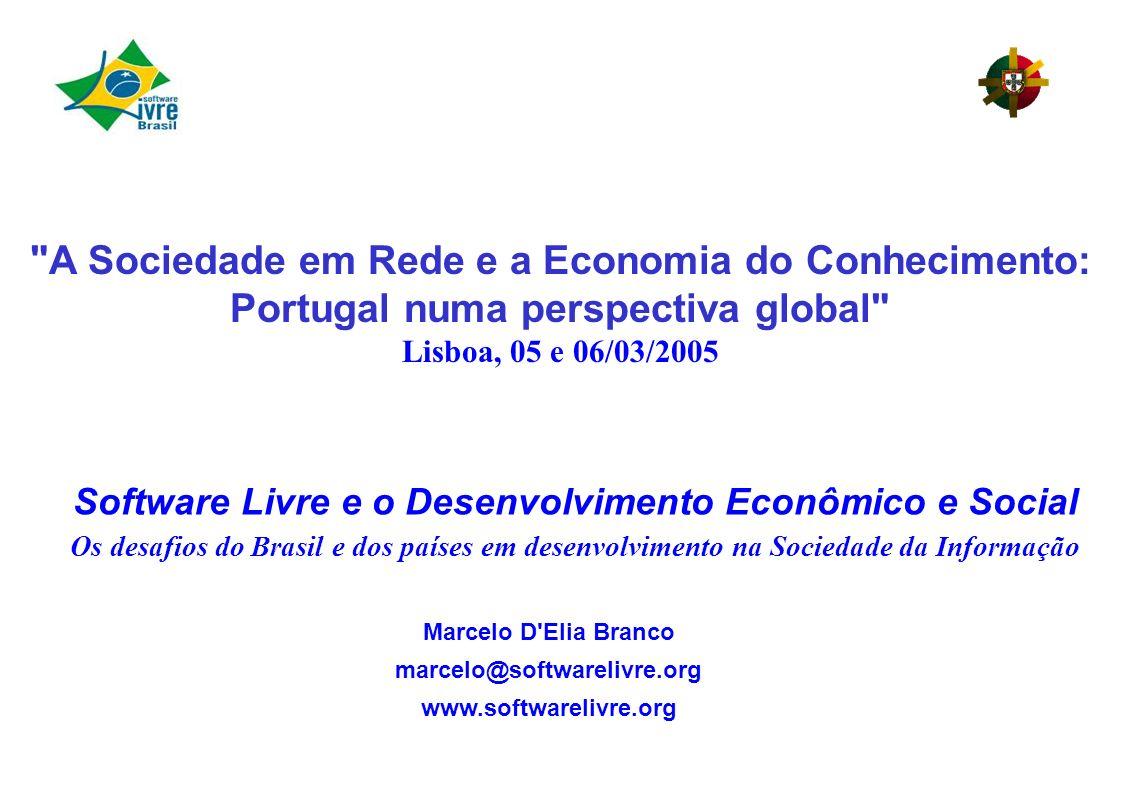 Software Livre e o Desenvolvimento Econômico e Social