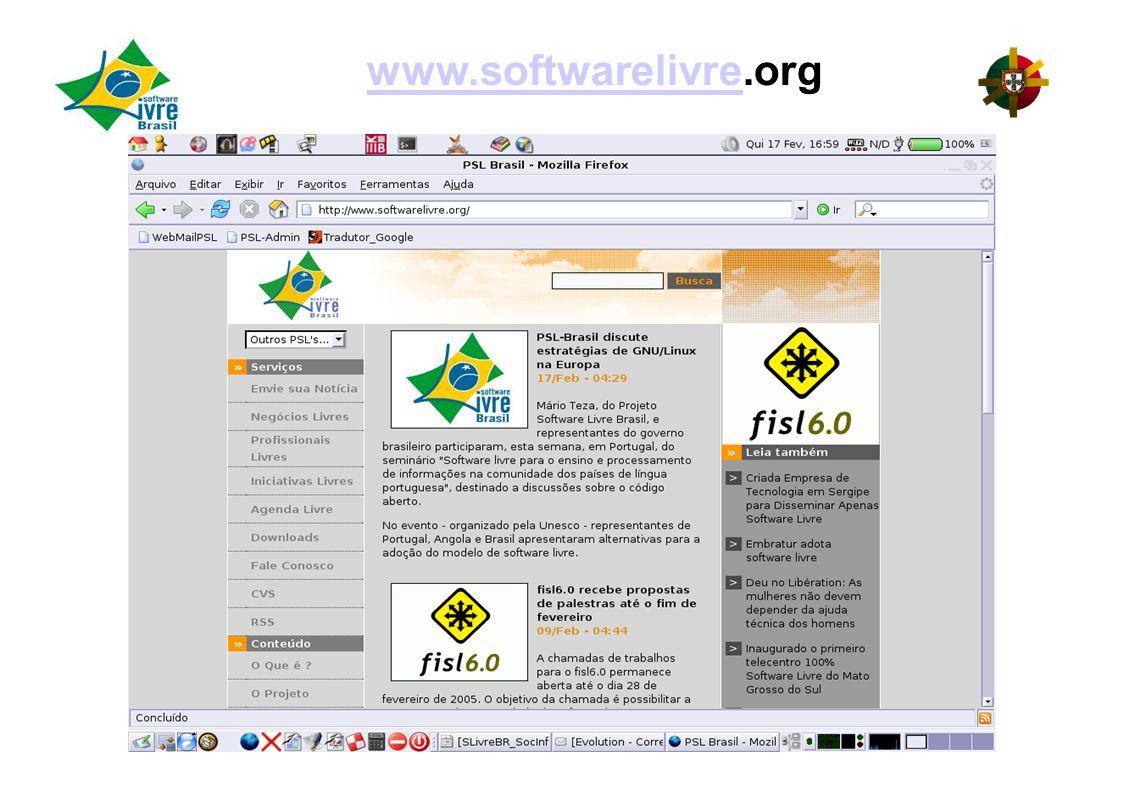 www.softwarelivre.org