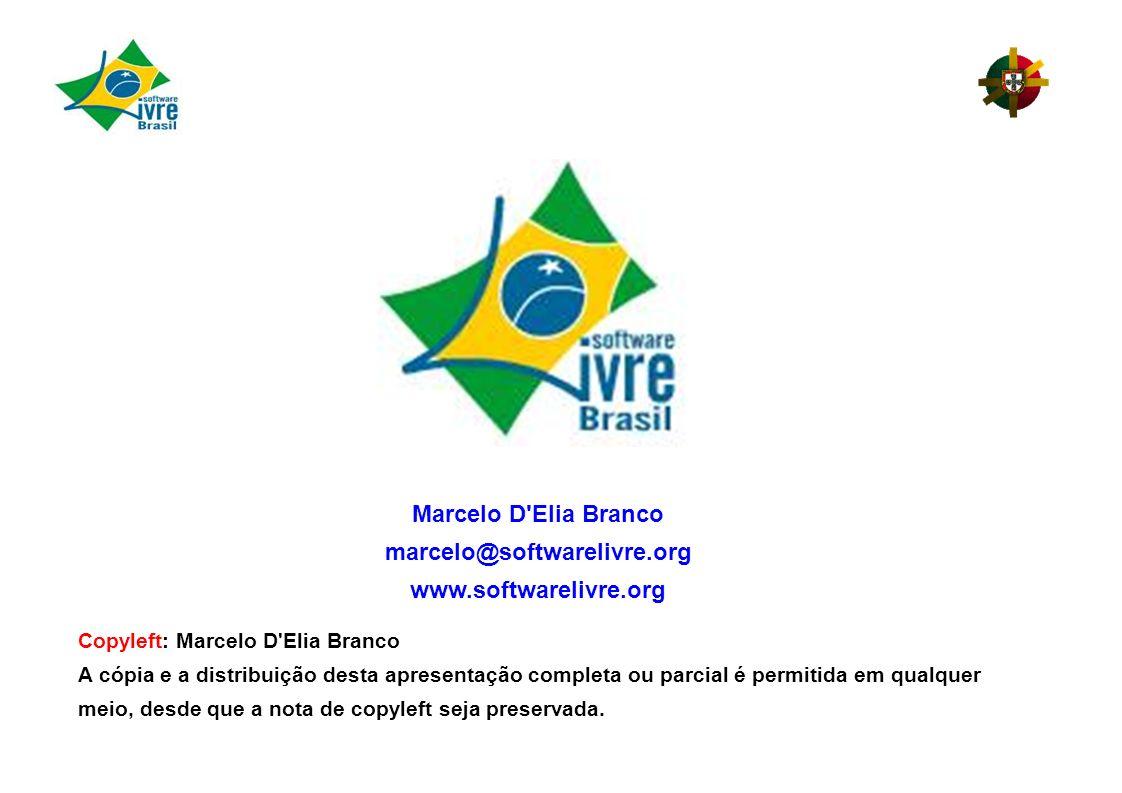 Marcelo D Elia Branco marcelo@softwarelivre.org www.softwarelivre.org