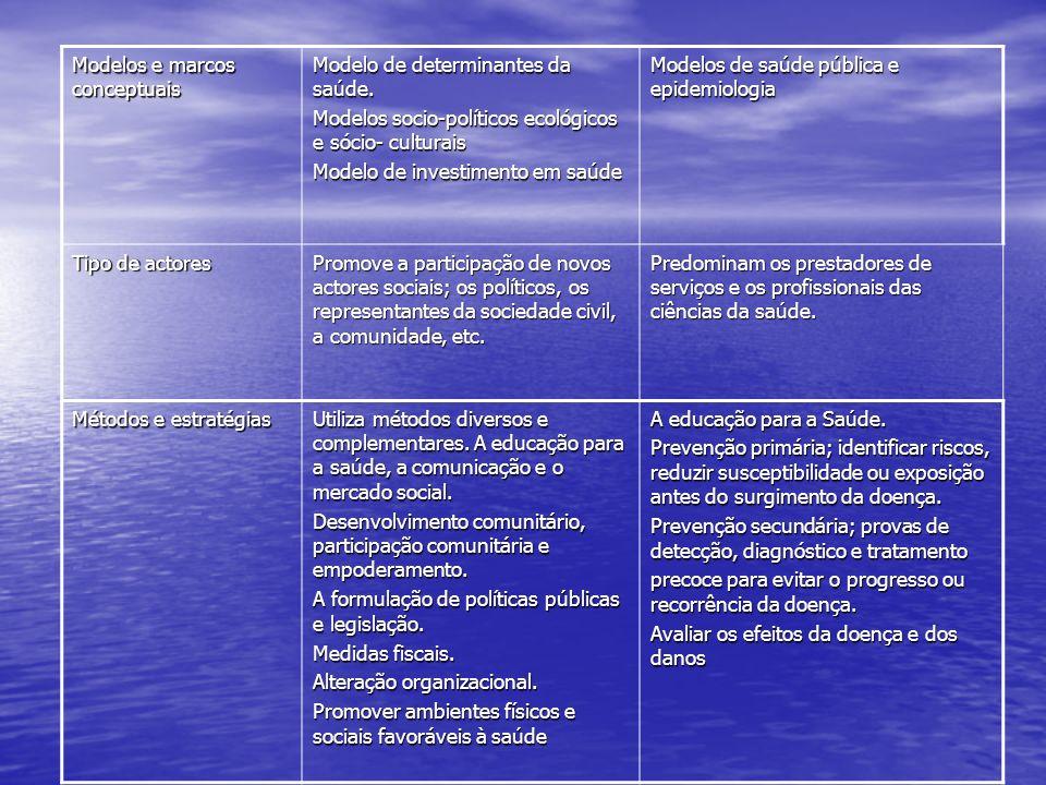 Modelos e marcos conceptuais
