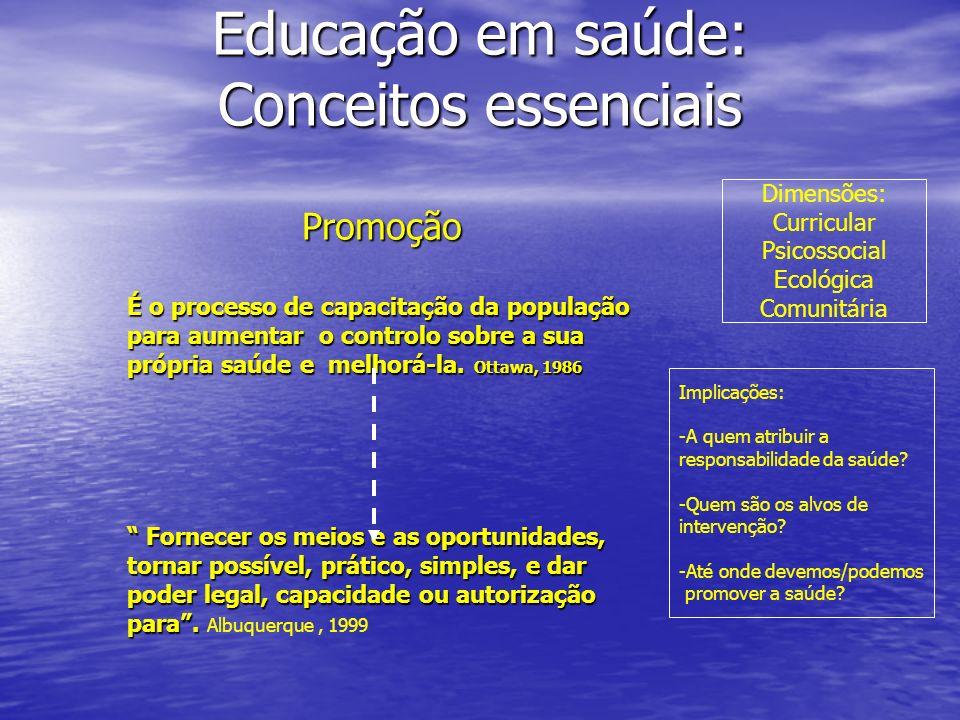 Educação em saúde: Conceitos essenciais