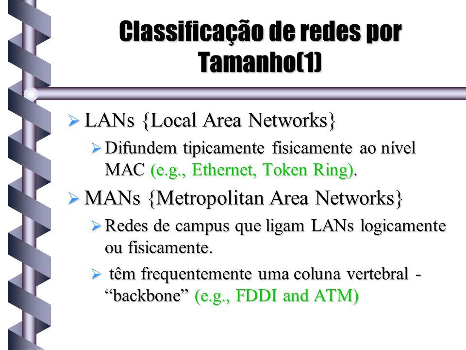 Classificação de redes por Tamanho(1)