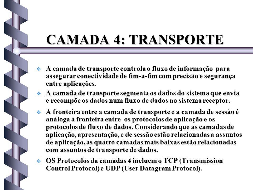 CAMADA 4: TRANSPORTE