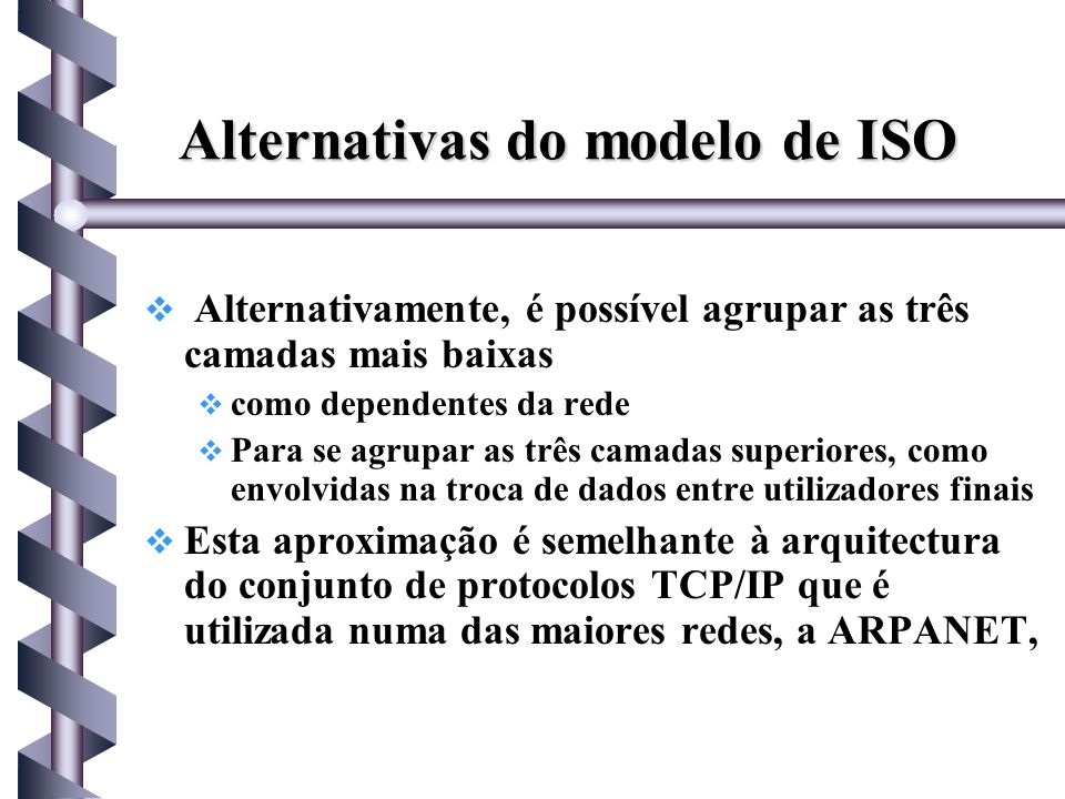 Alternativas do modelo de ISO