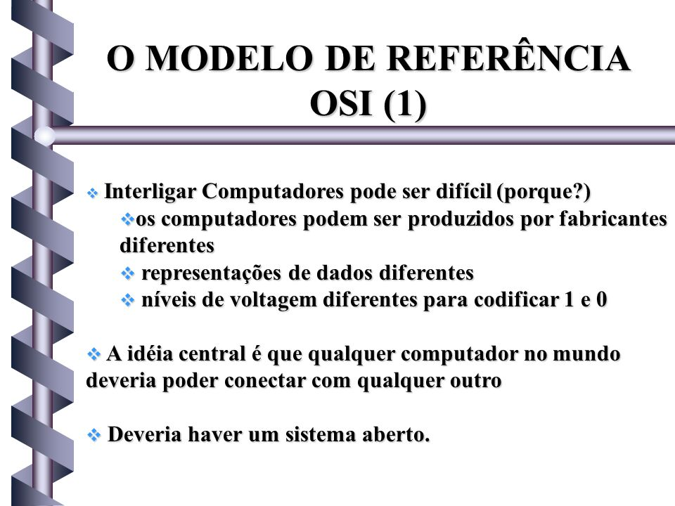 O MODELO DE REFERÊNCIA OSI (1)