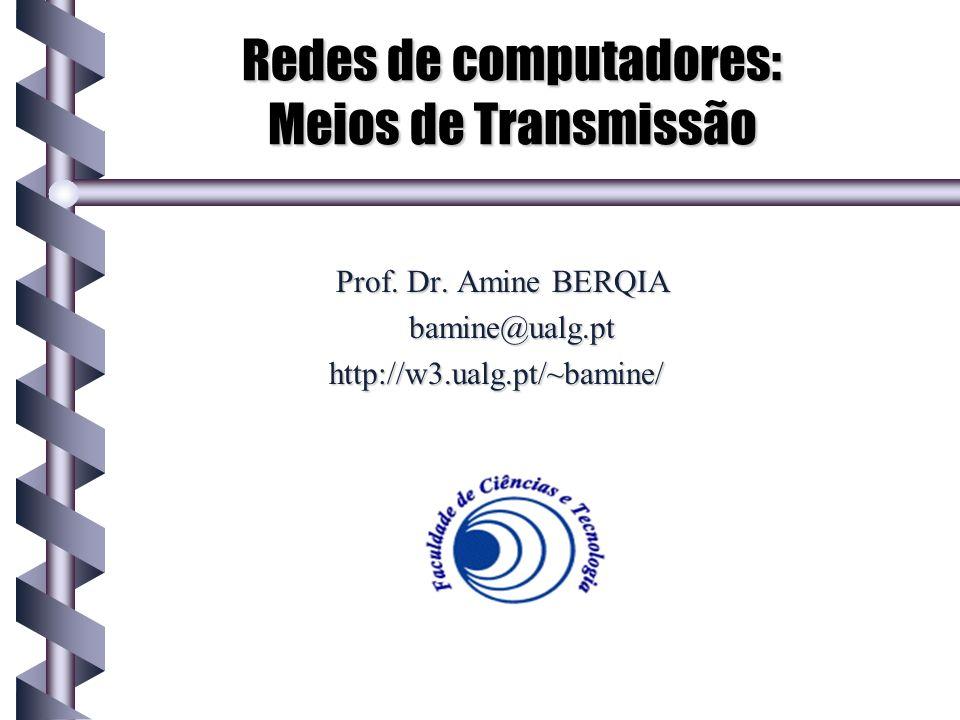 Redes de computadores: Meios de Transmissão