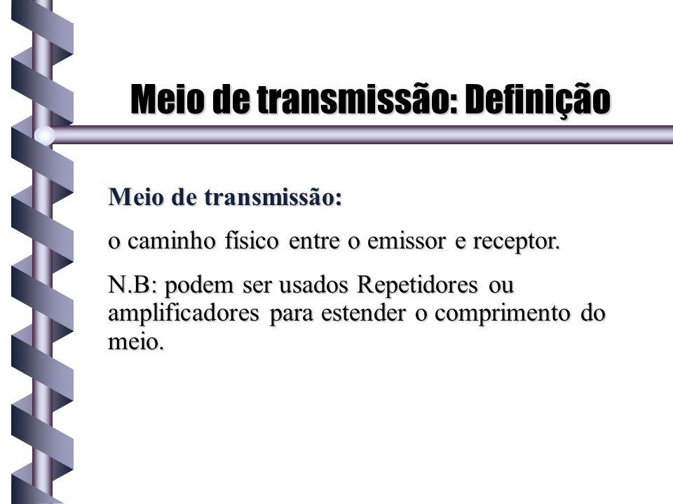 Meio de transmissão: Definição