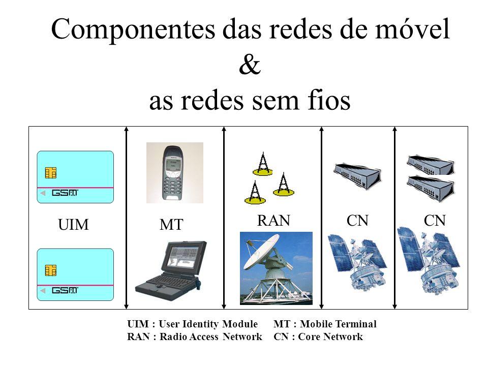 Componentes das redes de móvel & as redes sem fios