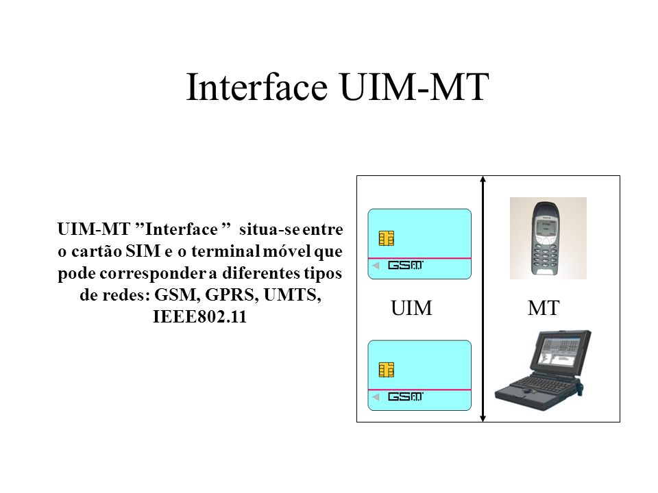 Interface UIM-MT UIM MT