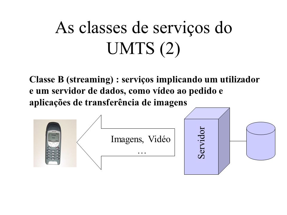 As classes de serviços do UMTS (2)