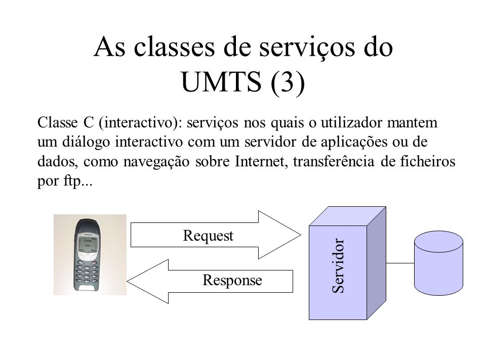 As classes de serviços do UMTS (3)