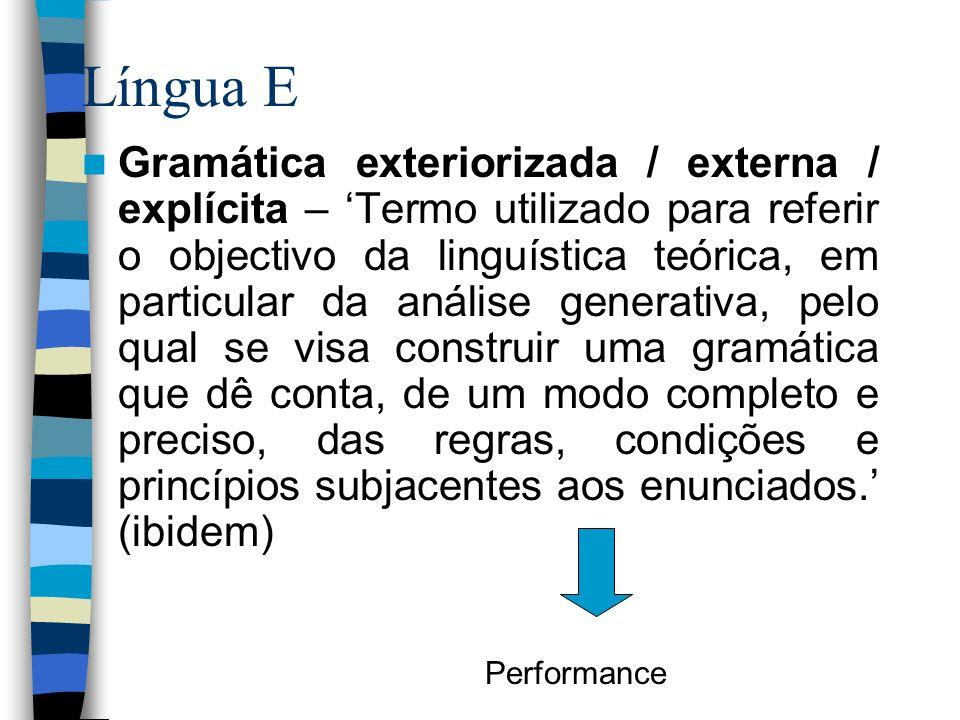 Língua E
