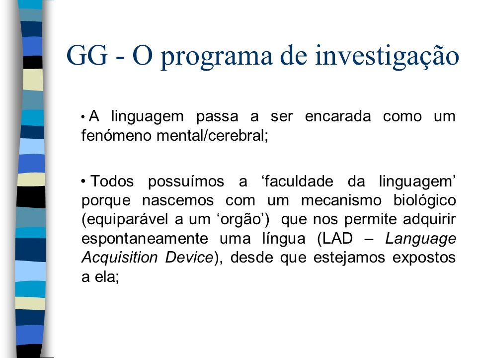 GG - O programa de investigação