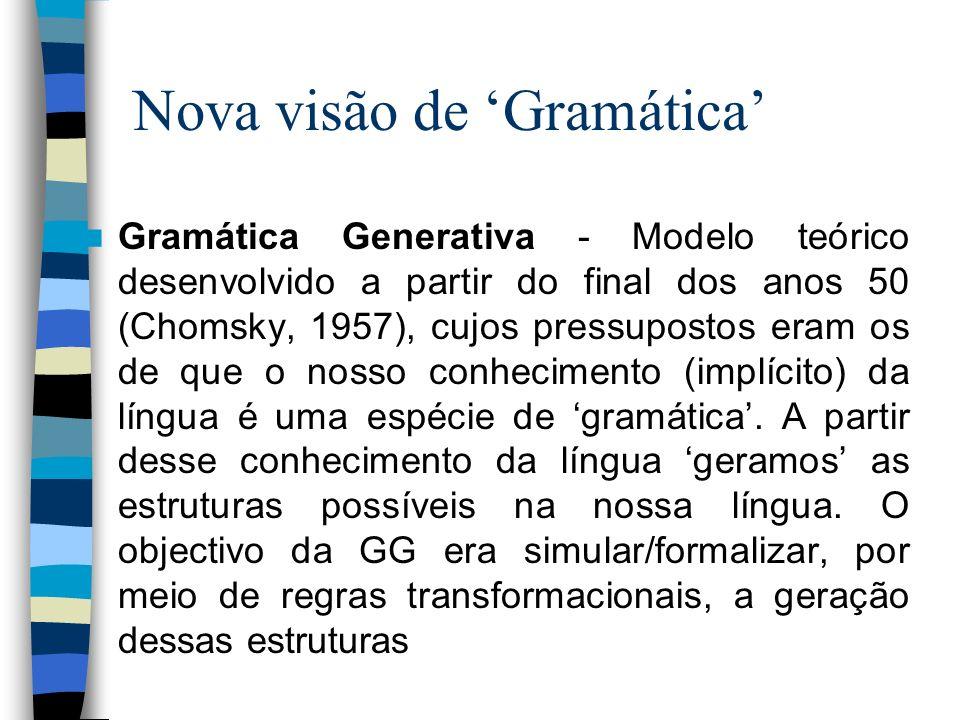 Nova visão de 'Gramática'