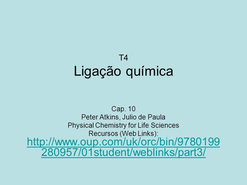 T4 Ligação química Cap. 10 Peter Atkins, Julio de Paula