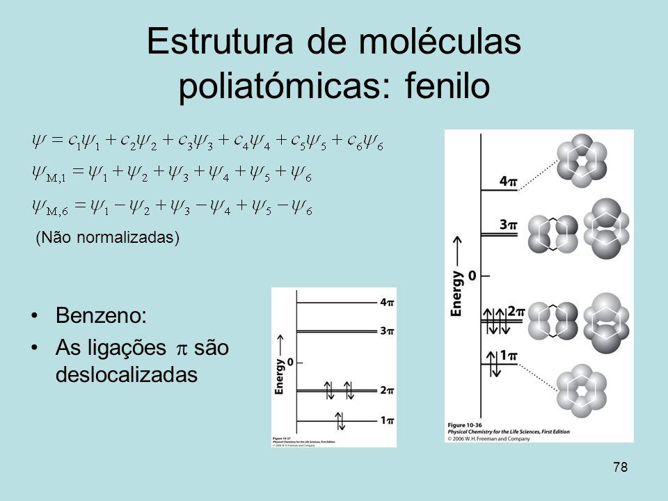 Estrutura de moléculas poliatómicas: fenilo