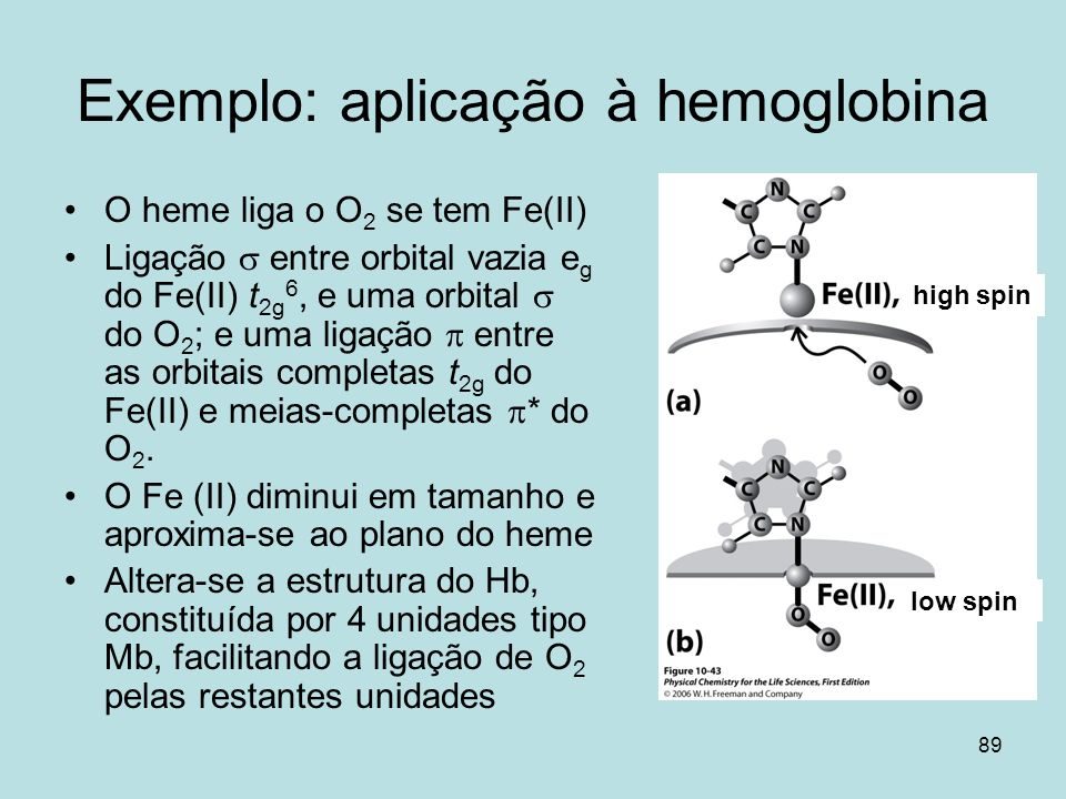 Exemplo: aplicação à hemoglobina