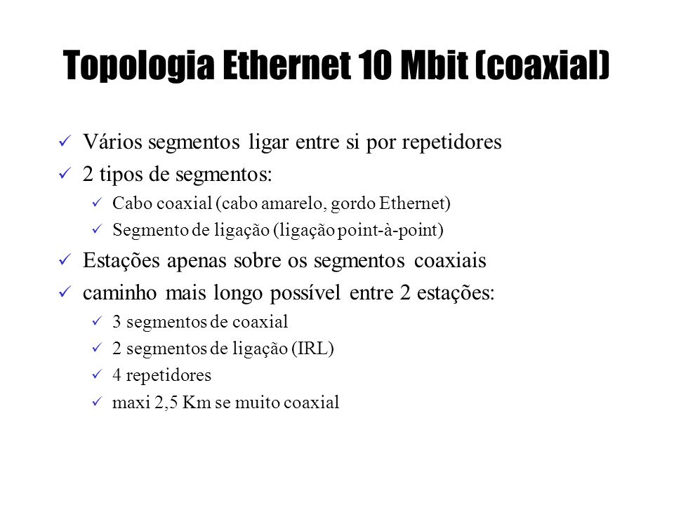 Topologia Ethernet 10 Mbit (coaxial)