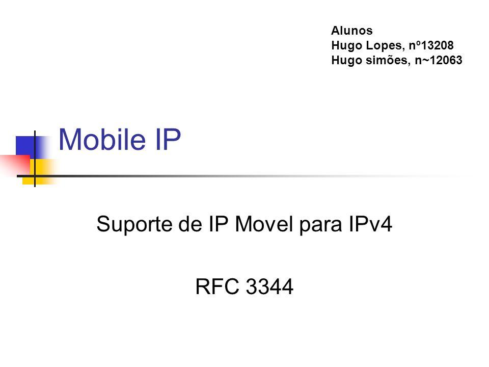 Suporte de IP Movel para IPv4 RFC 3344