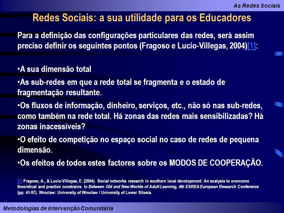 Redes Sociais: a sua utilidade para os Educadores
