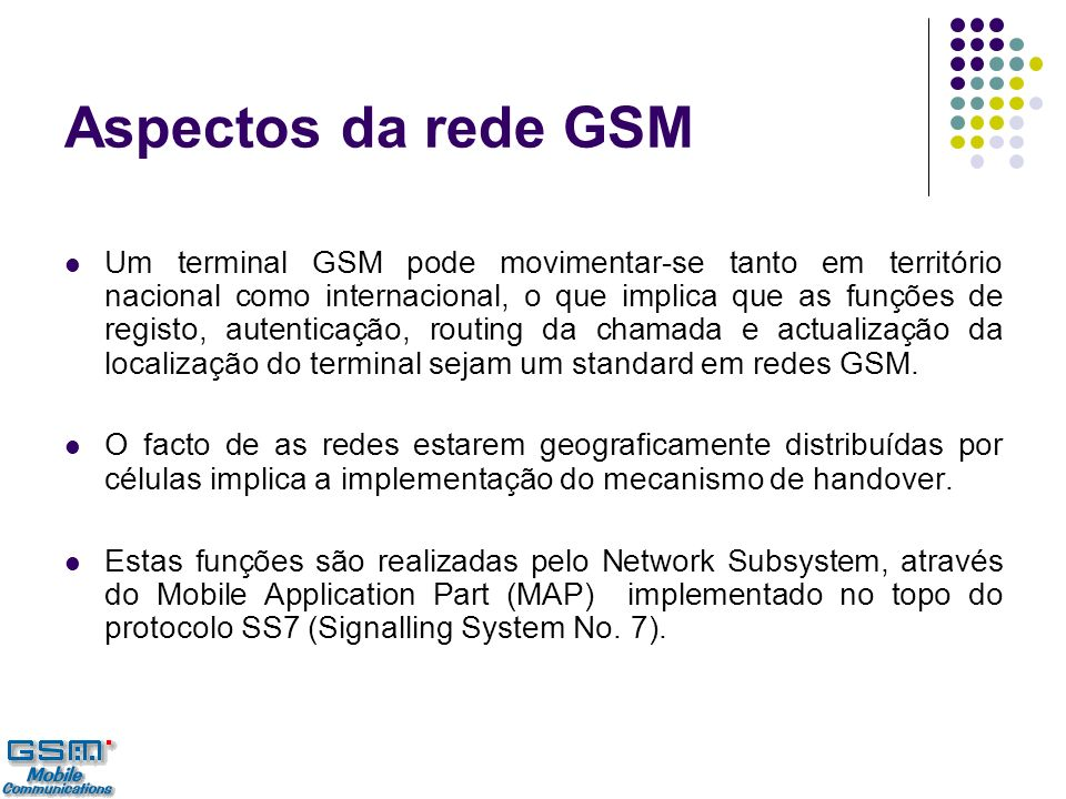 Aspectos da rede GSM