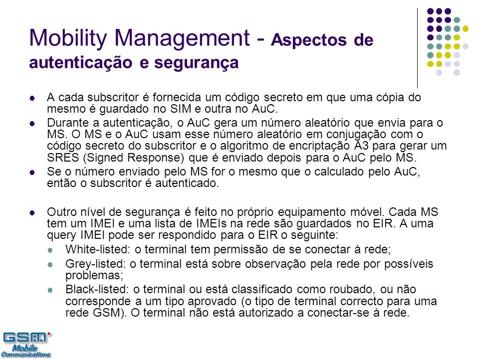 Mobility Management - Aspectos de autenticação e segurança